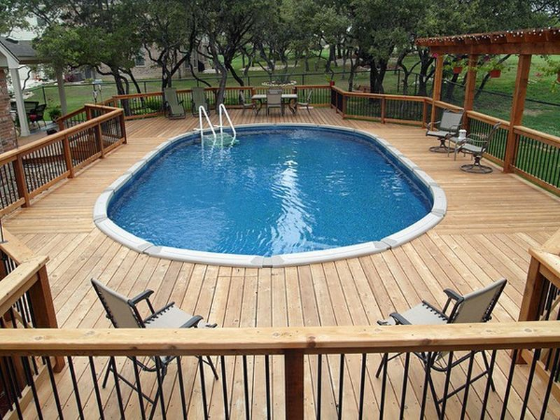 Above Ground Pool Deck Framing Photo 06 Design Of Above