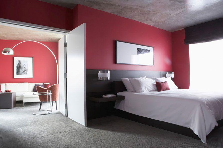 15 Idee per Arredare la Camera da Letto in Rosso e Grigio | Grigio ...