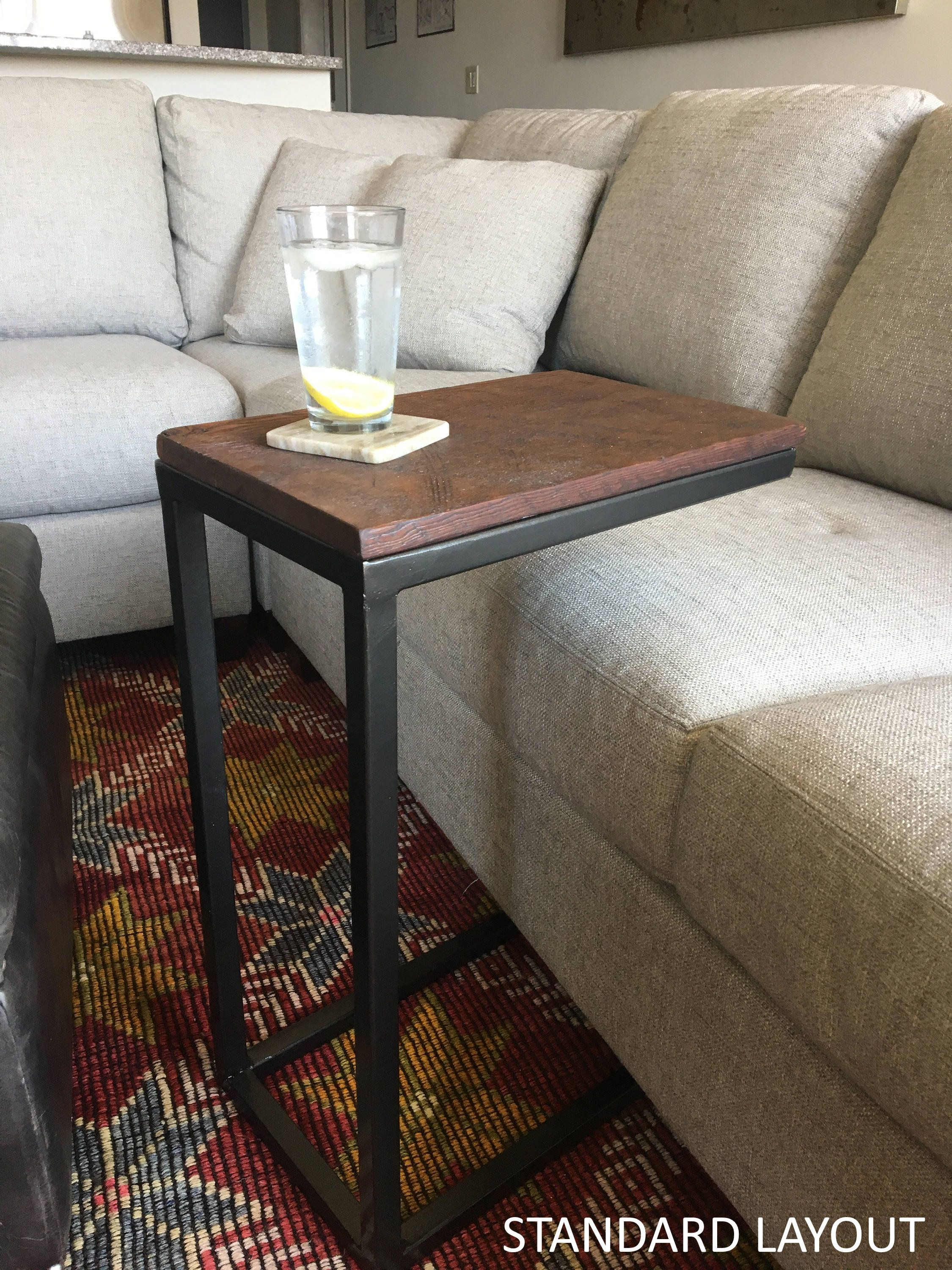 C Table Industrial C Table Sofa Table End Table Coffee Table