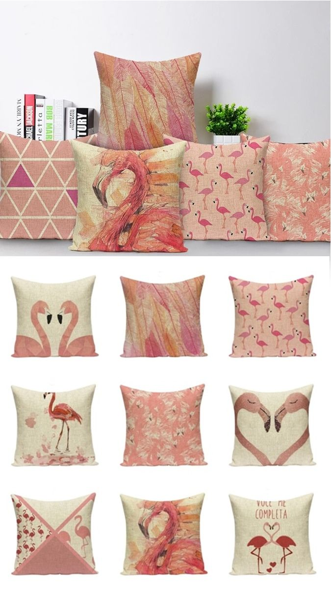 Pink Flamingo Home Decor Cushion Covers Flamingos Pinkflamingos Homedecor Pillowcovers Flaminecor