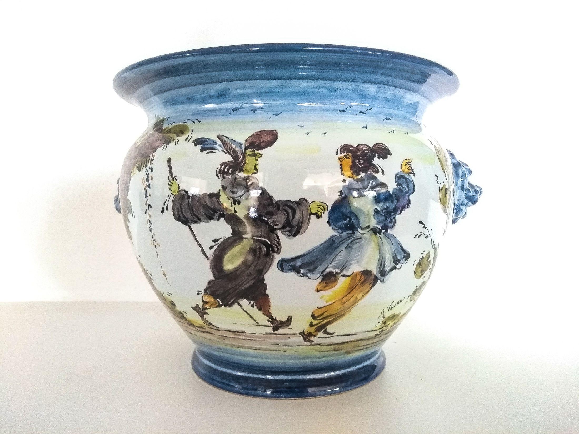 Italienische vintage keramik topf albisola handwerk etsy