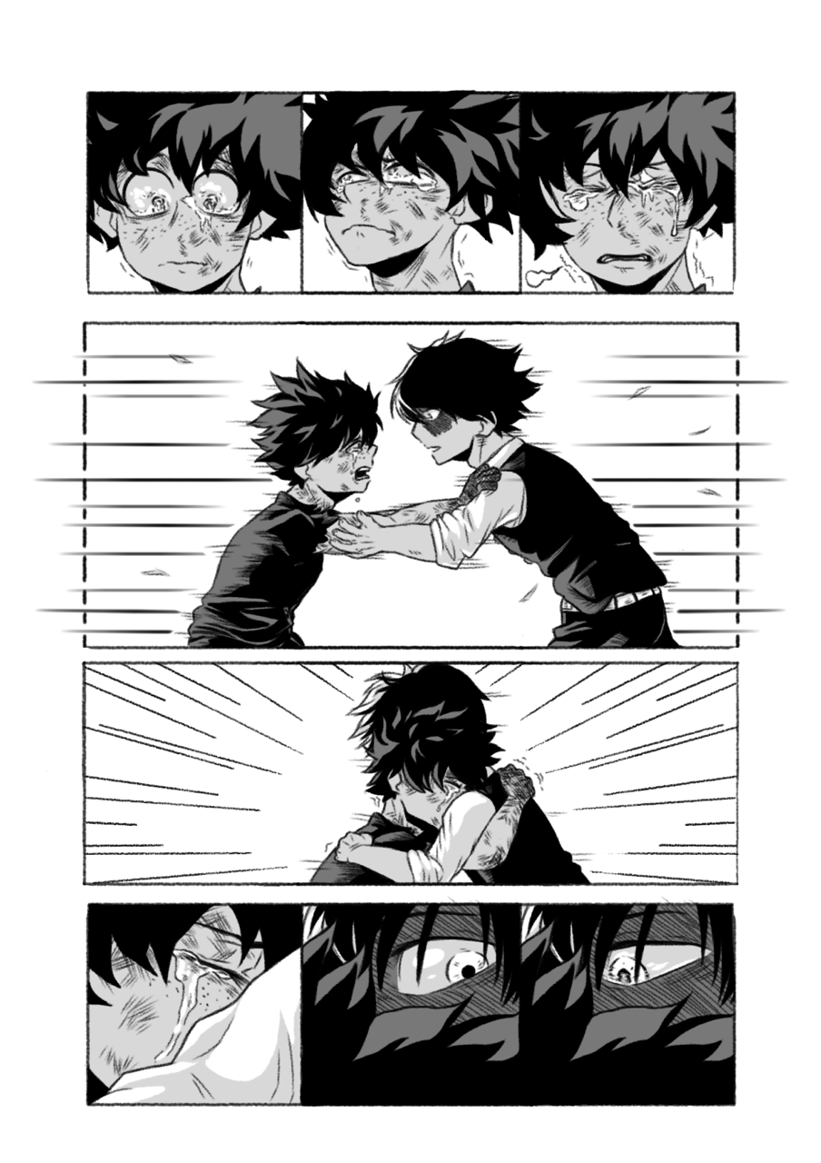 Fan Art For Yesterday Upon The Stair A Mha Fanfic Art By Creammilk On