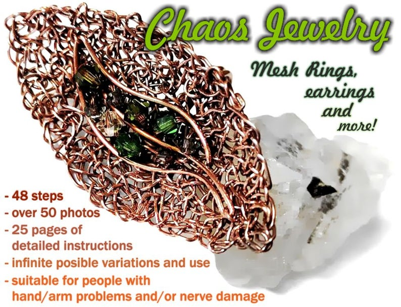 Chaos Jewelry Tutorial Easy Beginner Multi Functional Instructions For Rings Earrings Pendants Brooches Sculptures Decorative Bowls Etc Jewelry Easy Ring Earrings