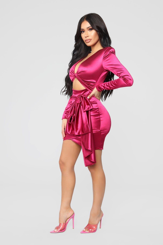 bb8d264c59d Twenty Fun Satin Dress - Pink in 2019