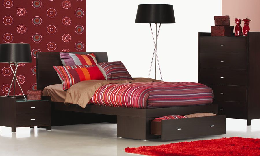 Rimini Chocolate - Timber King Single Bed | Bedshed | bedroom ...