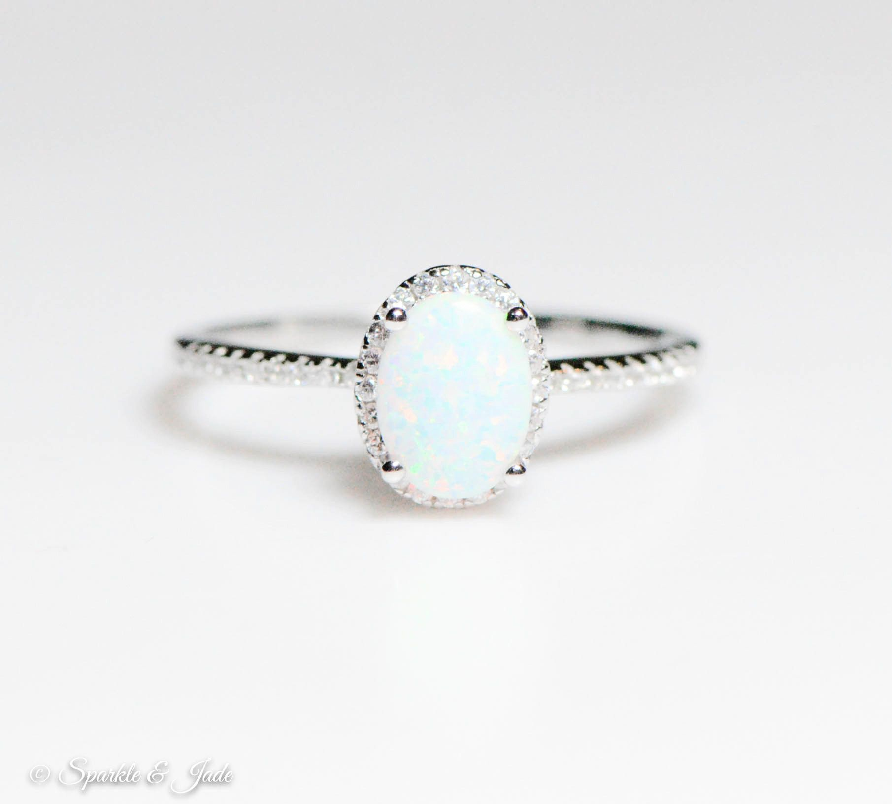 Best 25 Sterling Silver Opal Ring Ideas On Pinterest