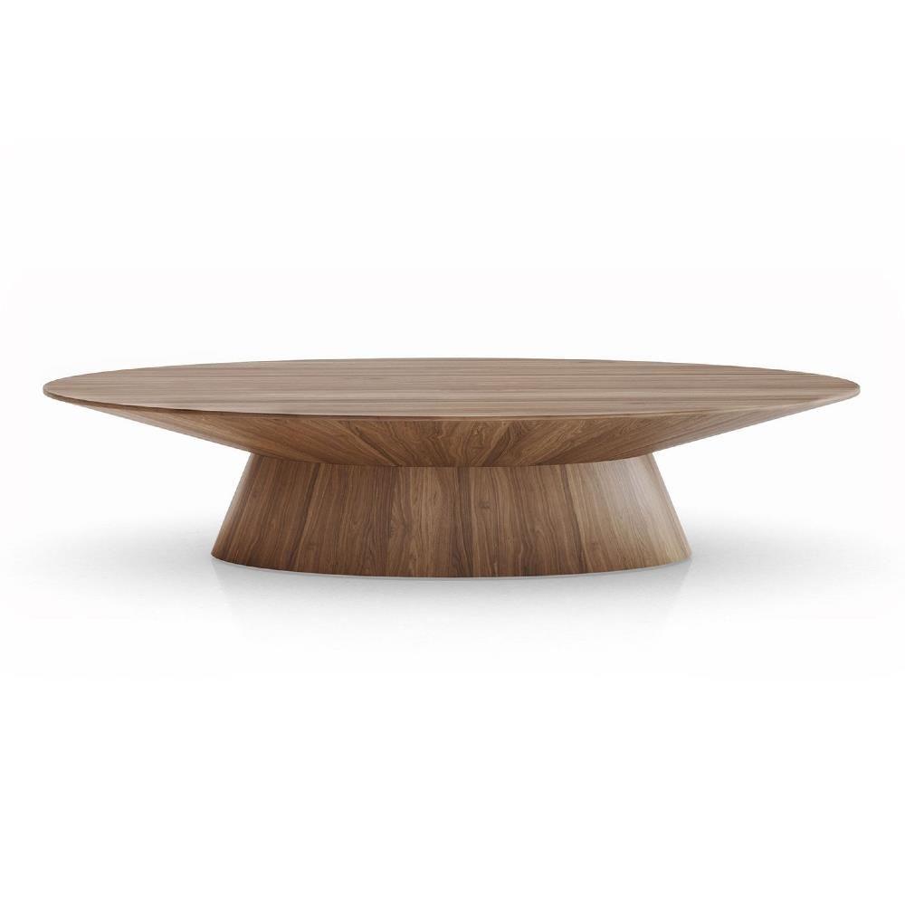 Modloft Sullivan Modern Classic Walnut Brown Wood Oval Coffee Table Modern Wood Coffee Table Round Coffee Table Modern Coffee Table Inspiration [ 1000 x 1000 Pixel ]