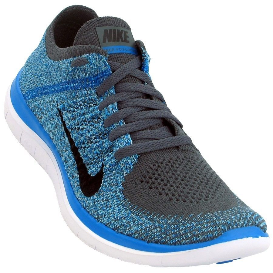 hot sale online 172f0 5f69d NEW NIKE FREE 4.0 FLYKNIT Running MENS Dark Grey Blue 120 NIB Nike  RunningCrossTraining