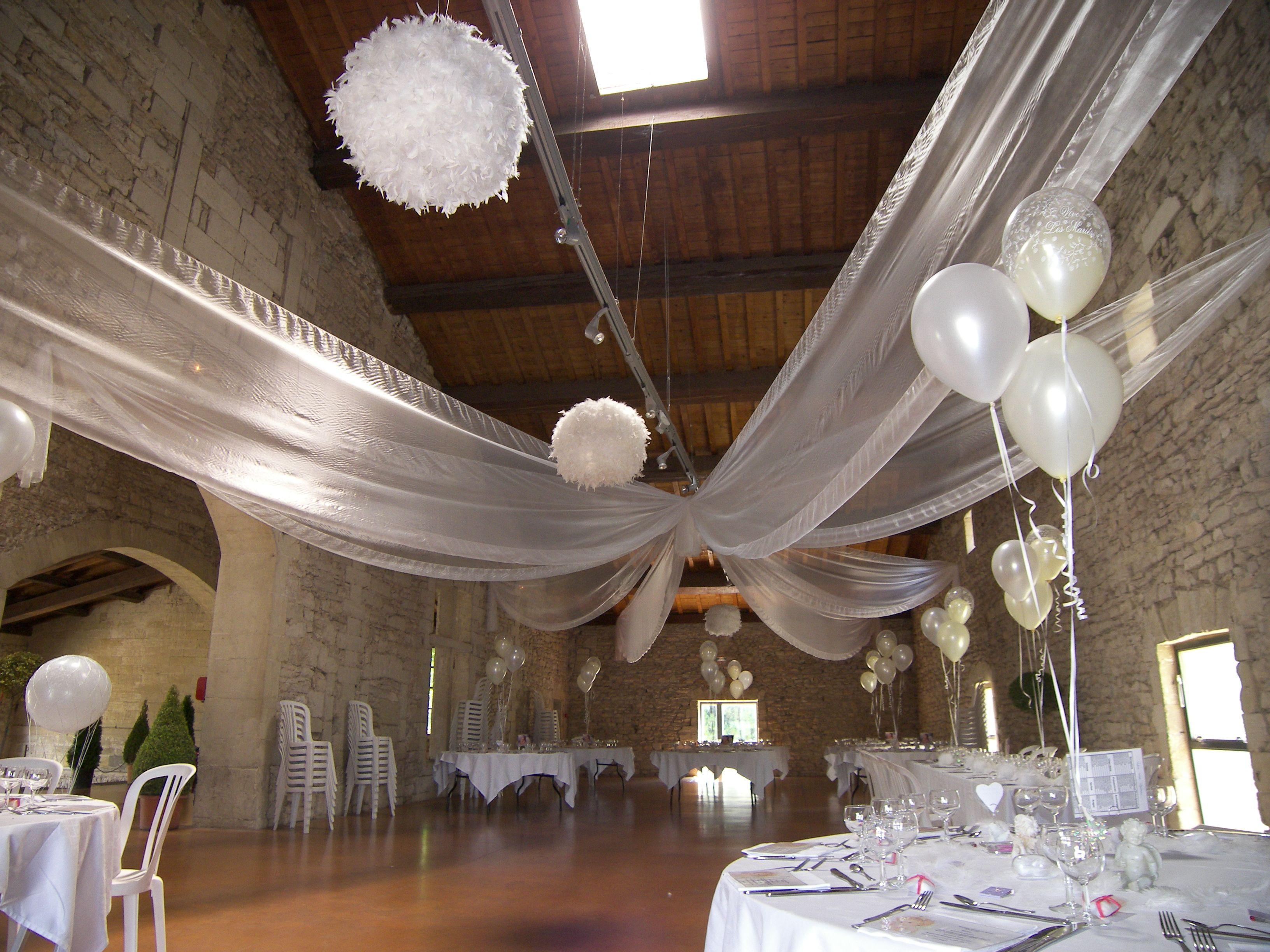 Pack d cor plafond en organza avec ballon explosif d coration plafond pin - Decoration des plafonds ...