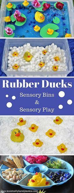 Rubber Ducks Sensory Bins & Sensory Play {A Year Of Color – Yellow}
