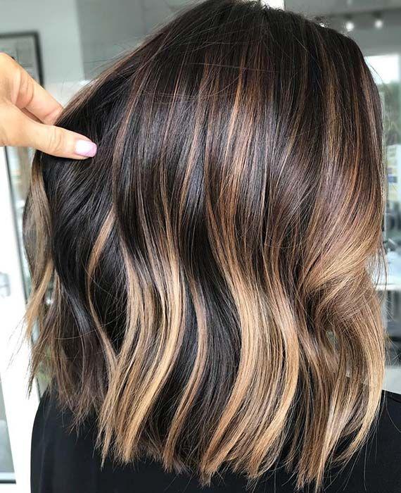 43 Best Bob And Lob Haircuts For Summer 2019 Brunette Balayage Hair Short Hair Styles Long Bob Haircuts