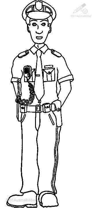 ausmalbild polizei polizist 100 malvorlage polizei