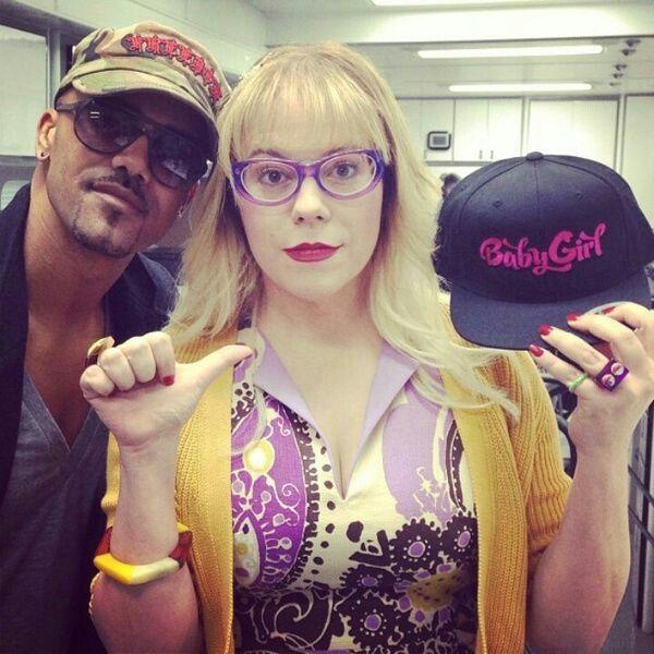 Hey baby girl! Morgan and Garcia   Kirsten vangsness