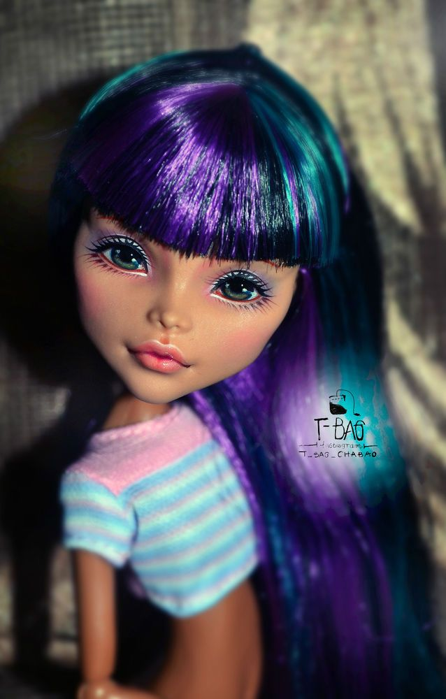 Monster High Cleo Repaint HEAD ONLY OOAK by Tea Bag #DollswithClothingAccessories