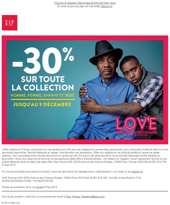 Newsletter Gap France