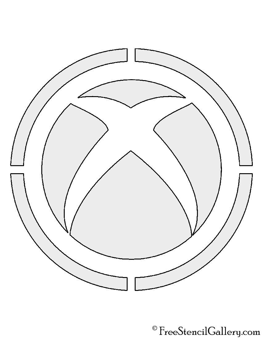 Xbox Logo Stencil In 2020 Xbox Logo Stencils