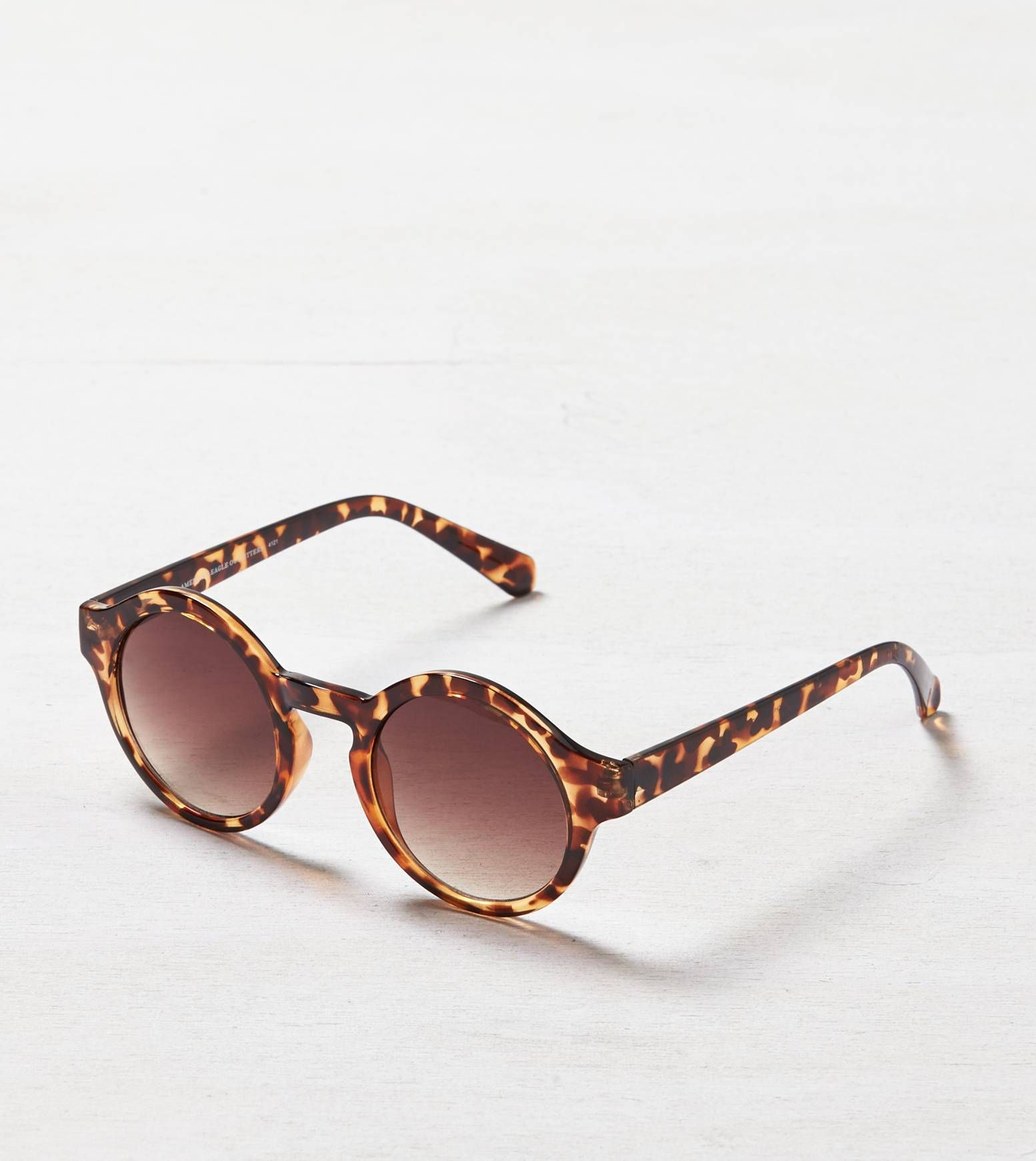 1232ca8baf2e Torte American Eagle Tortoise Shell Round Sunglasses | Trend We Love ...