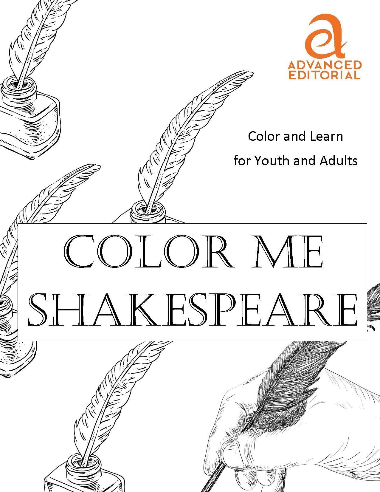 Coloring book for notability - Color Me Shakespeare Ae Book Club Love Adult Coloring Books