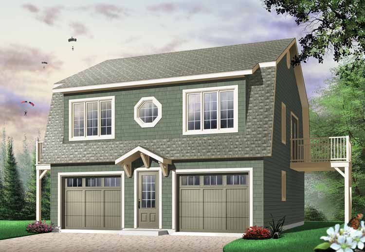guest house ~ Two Story Garage Plans   Two-Bedroom Garage ...