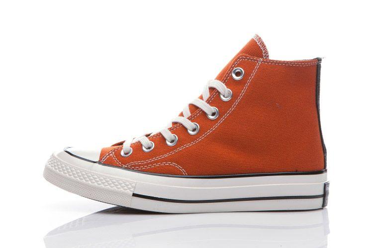 Orange Converse Chuck Taylor 1970s All Star High Tops Canvas Shoes  converse   shoes 097bd8b9d