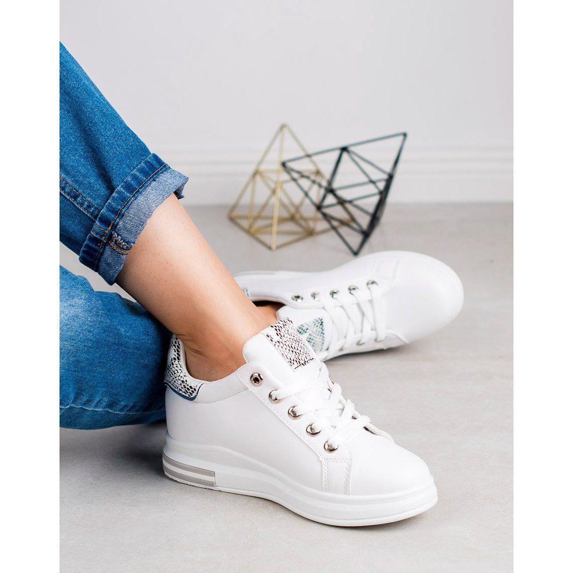 Shelovet Sneakersy Na Koturnie Biale Adidas Stan Smith Adidas Sneakers Adidas Stan