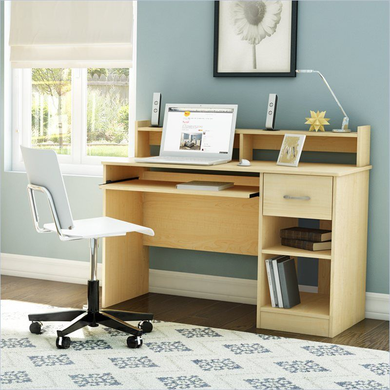 South Shore Axess Contemporary Style puter Desk in Natural Maple