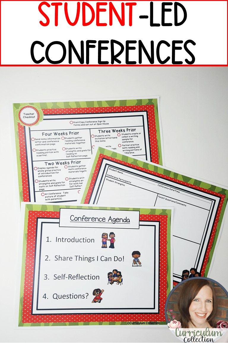 Student Led Conferences Template First Grade Parent Teacher Conferences Student Led Conferences Student Led Parents As Teachers
