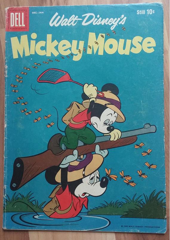 mickey mouse walt disney 1958 63 december dell publishing
