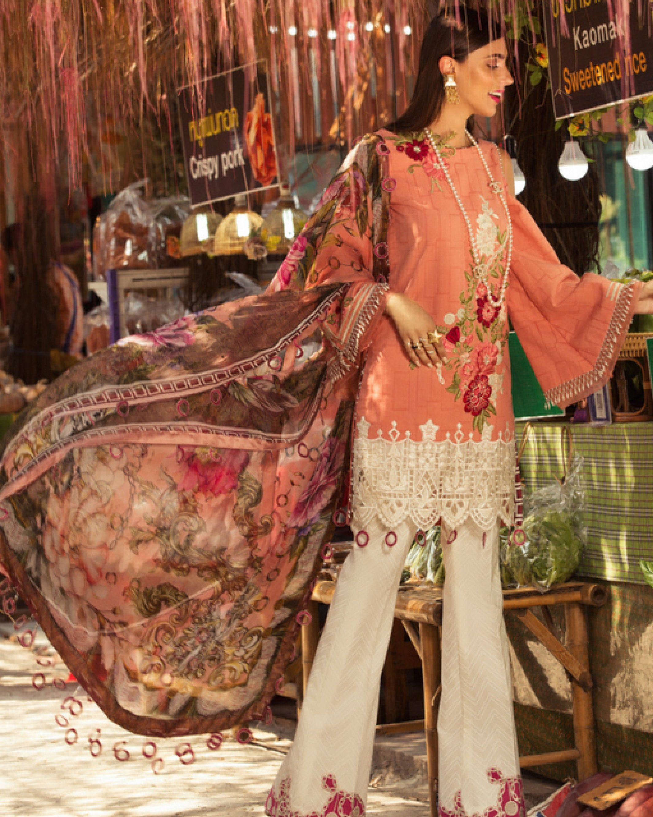 2320194c22 ... Embroidered Lawn Unstitched 3 Piece Suit - Spring / Summer Collection.  Noor by Sadia Asad - Lawn - D2 B