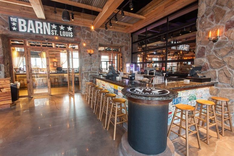 Interior Patio PBR St. Louis Country bar, Cowboys bar
