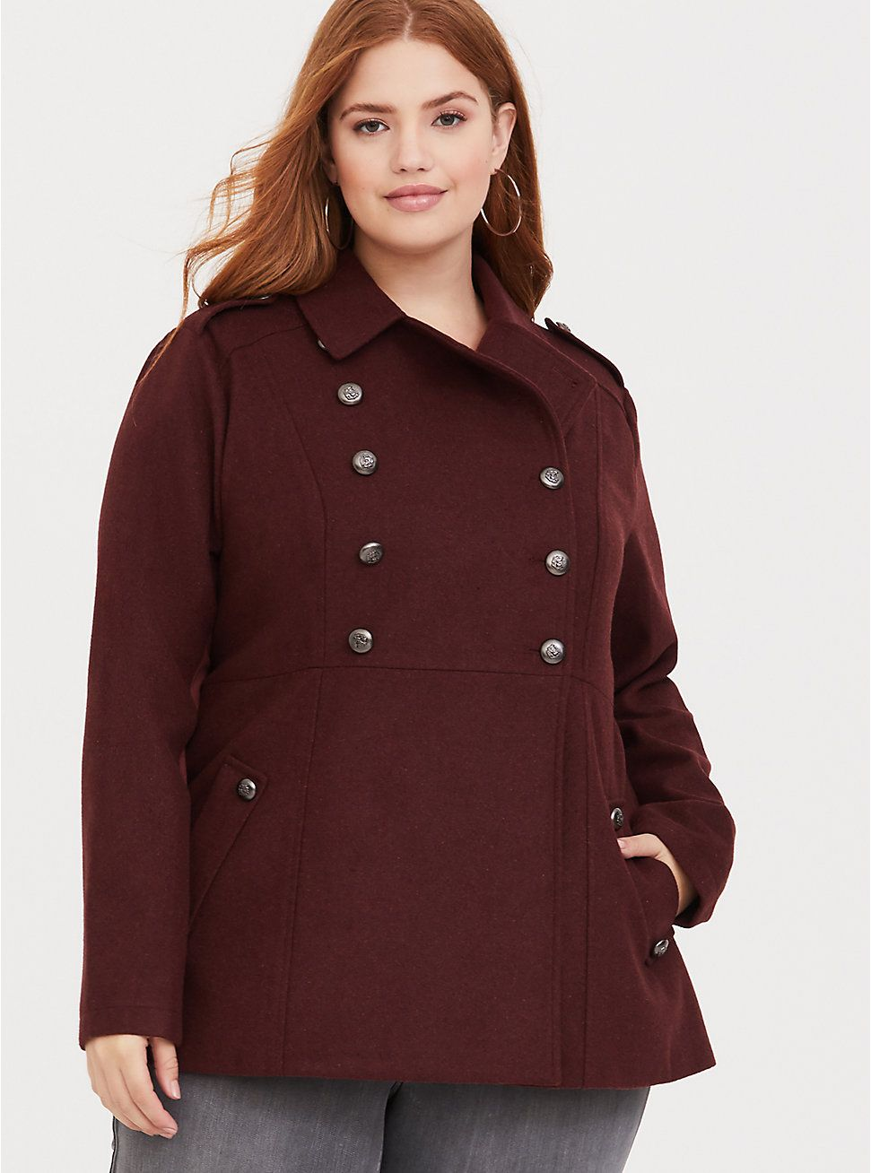 5ac6c8f4e3d Brown Double Breasted Military Coat in 2019