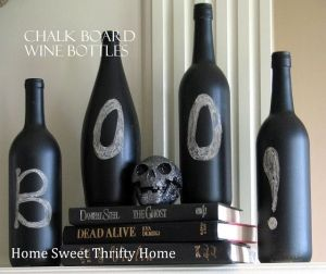Home Sweet Thrifty Home: Chalkboard Wine Bottles by heidi