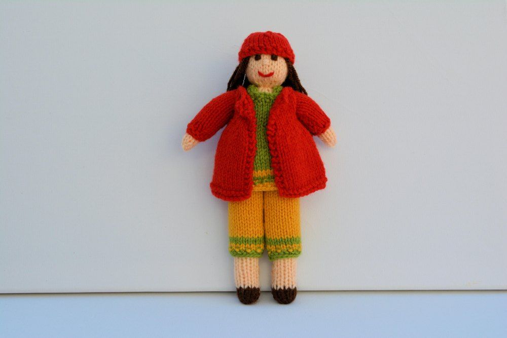 Daisy Rag Doll A Knitted Rag Doll Beginners Knitting