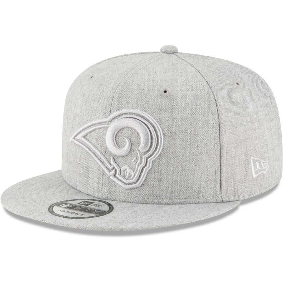 062a30d3 Men's Los Angeles Rams New Era Gray Twisted Frame 9FIFTY Adjustable ...