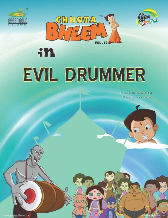 Chhota Bheem Vol 52 - Evil Drummer edition - Read the digital - best of chhota bheem coloring pages games