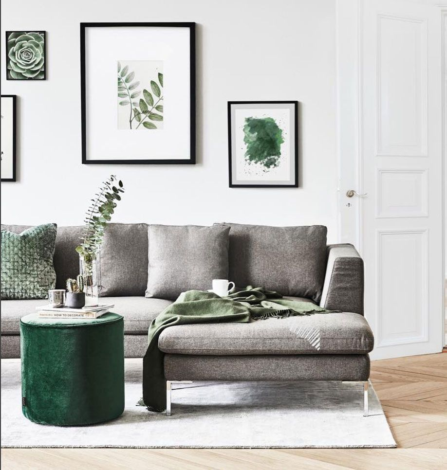 Flash  Décoration salon vert, Salon gris et blanc, Déco chambre vert