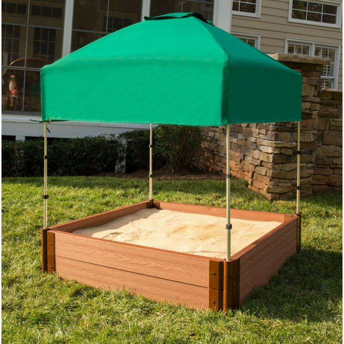 4 Ft X 4 Ft Plastic Square Sandbox Canopy With Cover