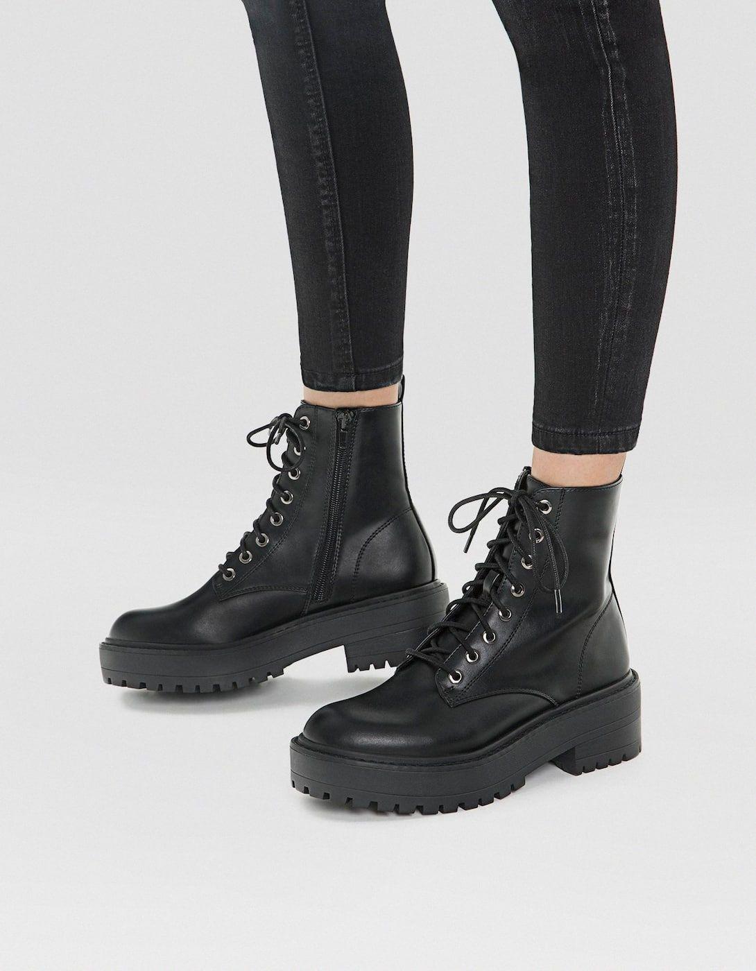 7f7fd67bab0 Botín plataforma negro - Botas y botines de mujer