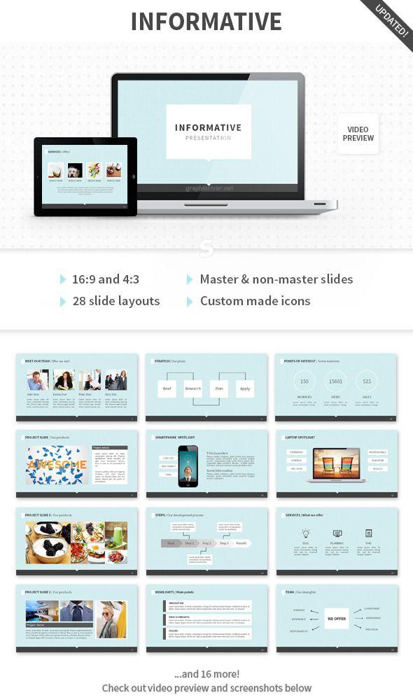 informative powerpoint template - presentation templates, Presentation templates