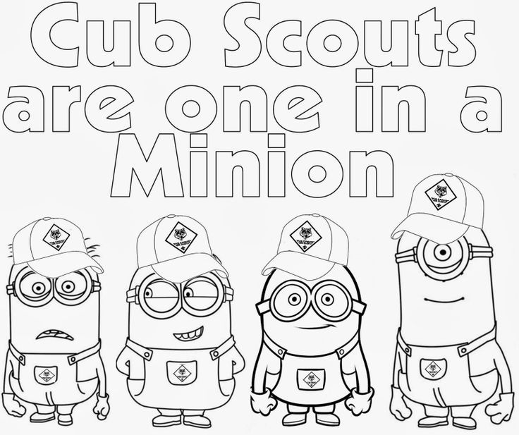 Cub Scout Coloring Pages Cub Scout Minions Prin Scout Junior Coloring Pages Free
