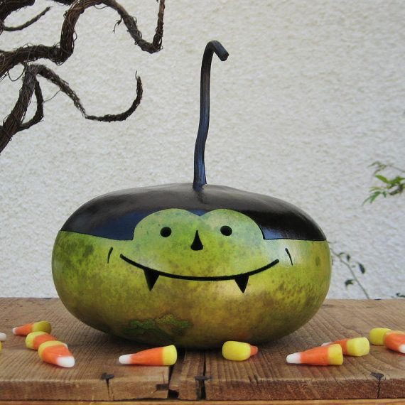 Halloween Gourd Vampire Natural Fall Harvest by pinchmeboutique, $16.00