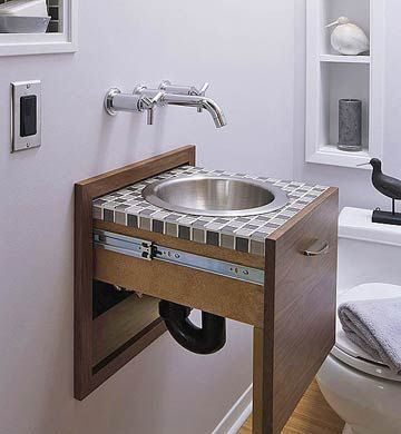 Bathroom Vanity Solutions  Wall Mount Faucet Tiny Spaces And Fair Small Space Bathroom Sinks Design Ideas