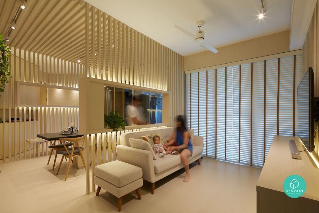 No More Walls 8 Smart Partition Ideas For Small Homes In 2020 Condo Interior Design Small Condo Interior Design Living Room Partition Design