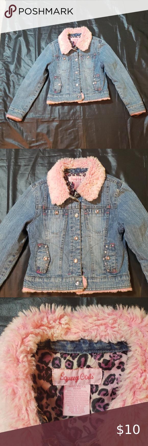 Squeeze Girls Jean Jacket Sz M 10 In 2020 Jean Jacket For Girls Girls Jeans Jean Jacket [ 1740 x 580 Pixel ]