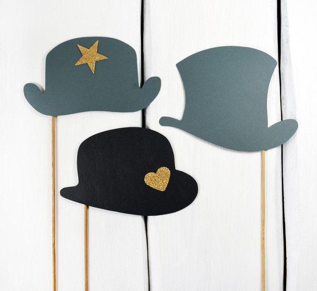 Hochzeits Foto Accessoires - Hüte von Loove Match auf DaWanda.com