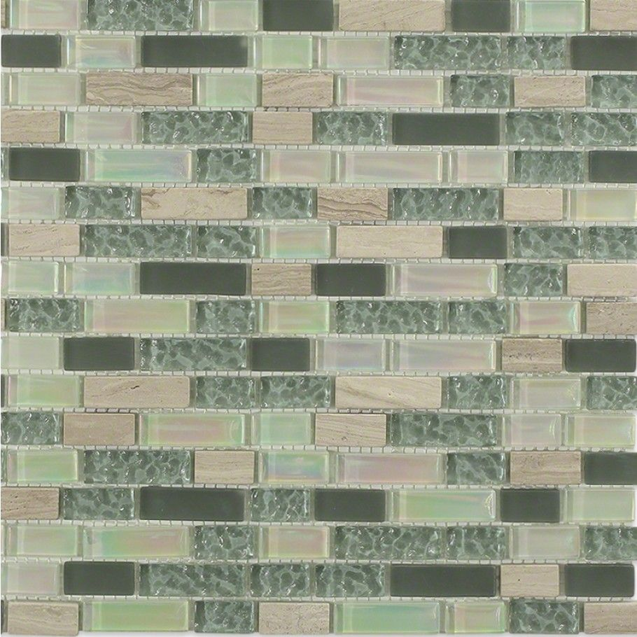 Shop For Constellation Blend Brick Pattern 1 2 X2 Marble Glass Tile At Tilebar Com Glass Mosaic Backsplash Marble Glass Tile Brick Patterns