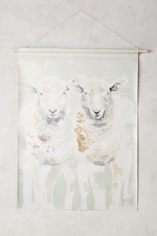Paired Sheep Wall Art   Art   Pinterest