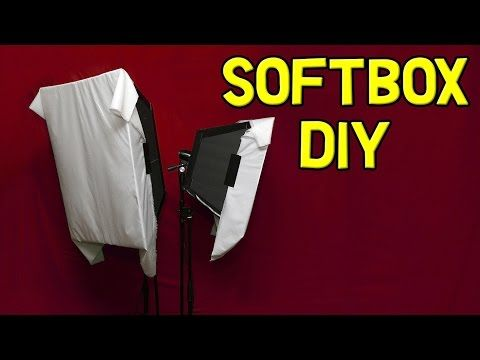 Softbox Diy With Continuous Light For Video 2017 Instructions Large Diffused Foam Board Youtube Softbox Diy Softbox Umbrella Lights Photography