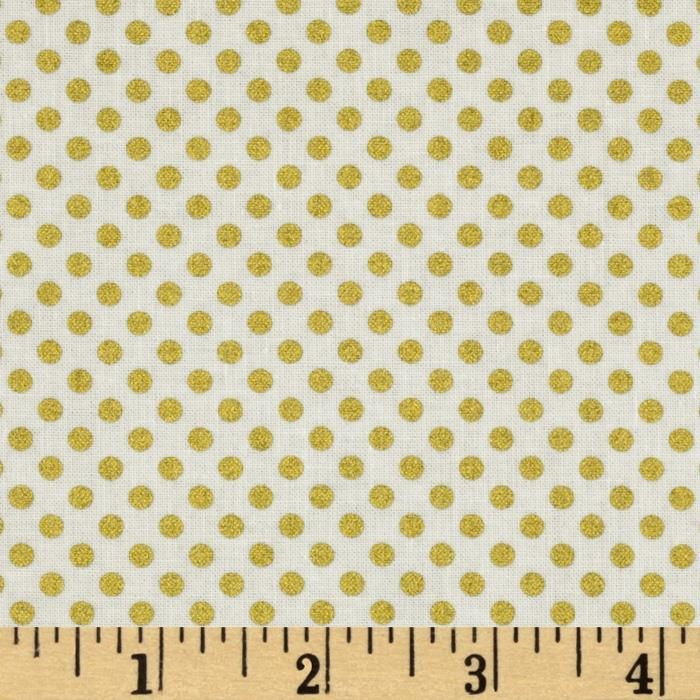 Metallic Gold Dot Fabric Metallic Gold Dot Fabric