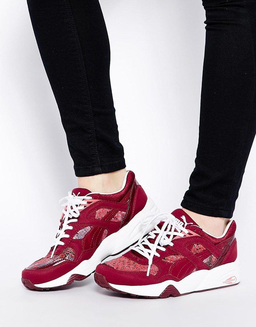 chaussures de sport a5943 9d36f Puma Trinomic R698 Hyper - Baskets - Rose zinfandel | CHICKS ...
